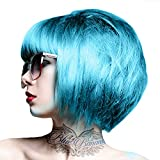 2 Crazy Color Semi Permanent Hair Colour Dye Cream by Renbow 100ml Blue Jade 67