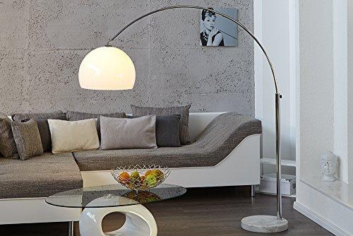 Design Bogenlampe mit Marmorfuß - 2