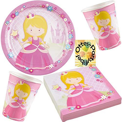 HHO Prinzessin-Party-Set My Princess Partyset 36tlg. für 8 Gäste 8 Teller 8 Becher 20 Servietten