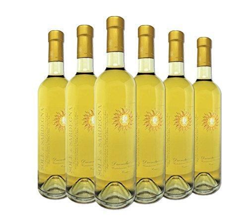 Vino bianco - sole di sardegna - vermentino di sardegna - d.o.c. - montespada - vendemmia 2013 - box 6 bottiglie da 75cl cad.