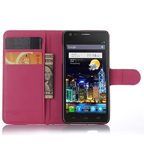 Manyip Téléphone Coque - PU Cuir rabat Wallet Housse [Porte-cartes] multi-Usage Case Coque pour pour Alcatel One Touch idol ultra OT6033 Classique Mode affaires Style(JFC3-7) F