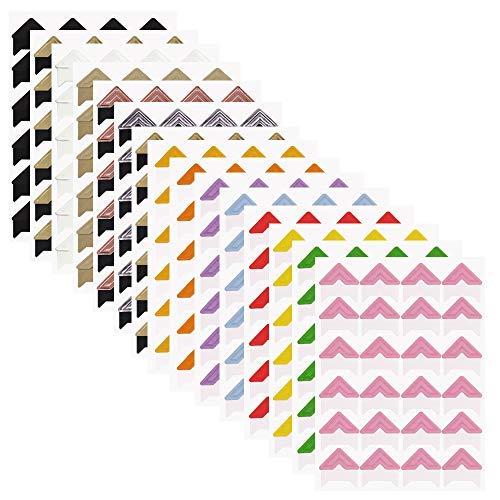 FineGood Selbstklebende Papier-Aufkleber für Fotoalbum, Album, Tagebuch, persönliche Organizer, Notizbuch, 15 Bögen, 14 Farben (14 Wand-aufkleber)
