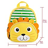 Hotrose Children Bag Kindergarten Cartoon Backpack Animal Pattern Rucksack for Toddler Boys and Girls (Lion)