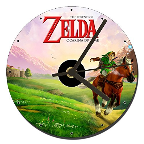 MasTazas The Legend of Zelda Ocarina of Time Tischuhren CD Clock 12cm