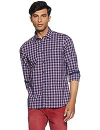 Arrow Sports Men's Checkered Slim Fit Cotton Casual Shirt