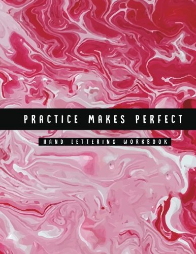 Practice Makes Perfect Hand Lettering Workbook: Marble Design: Volume 1