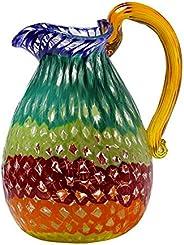 Caraffa in vetro di Murano, vetro multicolore, caraffa moderna, caraffa in vetro soffiato, creazioni artigiana