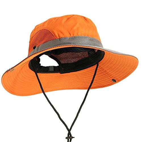 Inovey Outdoor Fischer Hut Freizeit Reisen Motorhaube Angeln Hut Sonnenschirm Sonnenschutz Berg Hut Für Männer Und Frauen - Orange