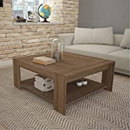 Tecnomobili Coffee Table, Almond, 100 x 90 x 45 cm, Almond