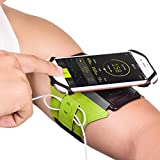 "Gripp Universal Armband Phone Holder Workout Running Gym Jogging Sport Armband 180 Rotatable For IPhone 7 Plus/6S/6/5S Samsung S7 S6 Edge Galaxy S5 Fit 4"" To 5.5"" IPhone Armband (Green)"
