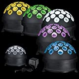 TIP Disco 3297 LED Light Globe Kugel 4W RGB Schwarz Motor Multicolor E14