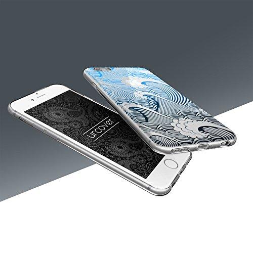 Urcover® Apple iPhone 6 / 6s Hülle   Trend Fashion   TPU in Mandala Mint   Zubehör Tasche Case Handy-Cover Schutz-Hülle Schale Muster Welle