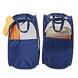 Wagsiyi Schmutziger Korb 2 stück große wasserdicht mit Griff leicht Transport Falten Oxford Tuch wäschekorb für Bad Schlafzimmer Hause Ablagekorb