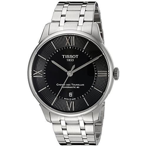 Tissot Chemin des Tourelles t099.407.11.058.00nero quadrante automatico orologio da uomo