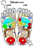 Fußreflexzonen Übersichtskarte DIN A4 (Lehrtafeln / Übersichtskarten)