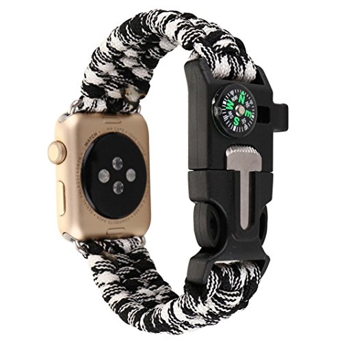 hunpta neue nylon seil survival armband uhr band mit. Black Bedroom Furniture Sets. Home Design Ideas