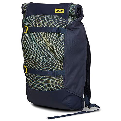 AEVOR Trip Pack Fineline Twin Yellow Urban Rucksack erweiterbar auf 33 Liter mit verstellbarem Brustgurt für Den Alltag