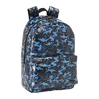 Safta Mochila Escolar Moos Blue «Camo» Oficial 300x140x460mm