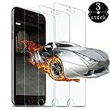 ASAOGE Panzerglas Schutzfolie für iPhone 6/iPhone7/iPhone8,[3 Stück] iPhone 6/7/8 Schutzfolie/Ultra Clear/Anti-Kratzer/9H Härtegrad/Anti-Bläschen,iPhone 8/7/6 Panzerglasfolie