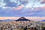 Posterlounge Holzbild 60 x 40 cm: View of Mount Lycabettus, Athens, Greece. von Age fotostock/Mauritius Images