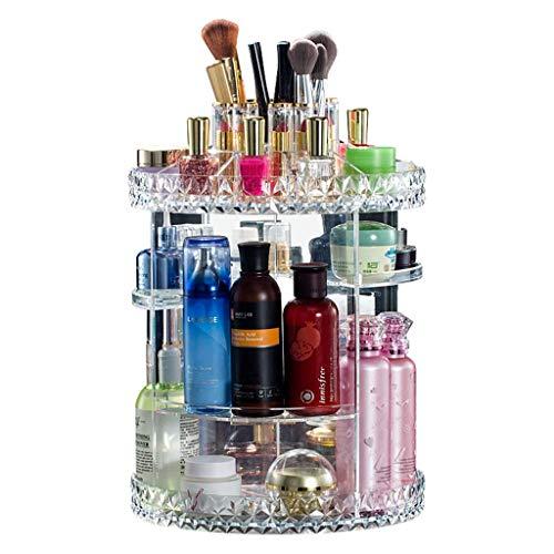 Zxl 360 & deg; scatola di immagazzinaggio cosmetica plastica acrilica trasparente superficie della scrivania tavolo da toeletta cura della pelle pennello per rossetto rack di finitura