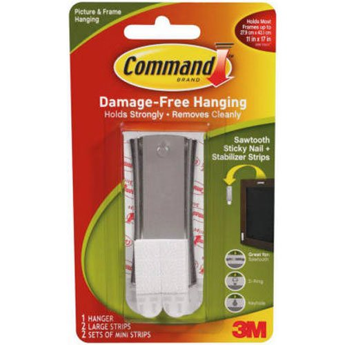 command-sawtooth-sticky-nail-and-stabiliser-strips-silver-pack-of-1