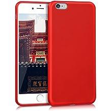 kwmobile Funda para Apple iPhone 6 Plus / 6S Plus - Case para móvil en TPU silicona - Cover trasero en rojo oscuro metalizado