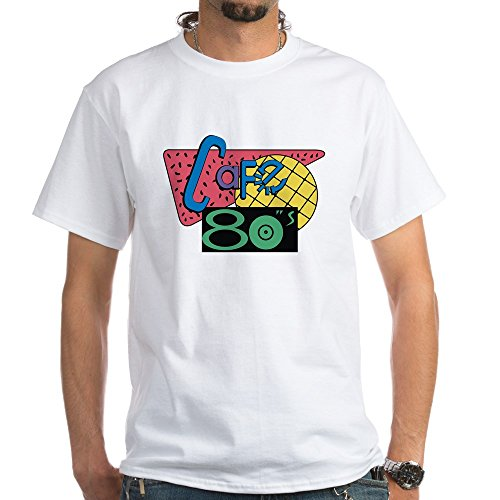 CafePress - Cafe 80??S ??? Back To The Future T-Shirt - Unisex Crew Neck 100% Cotton T-Shirt, Comfortable and Soft Classic Tee with Unique Design