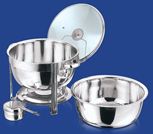 Edelstahl Rund Chafing Dish 8,5Liter Glas Deckel Chafing Dish Fuel