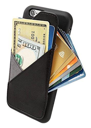 [iPhone 6 Plus/6S Plus] Schlank-Mappen-Kasten - Kartenhalter für bis zu 8 Karten und Bargeld - Quickdraw von HUSKK - Black [Q-6P-BPL-P] Flip Lock Wallet