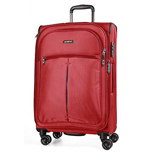 March 15 Arrow Valise 4 roulettes Taille M 67 cm extensible, Red