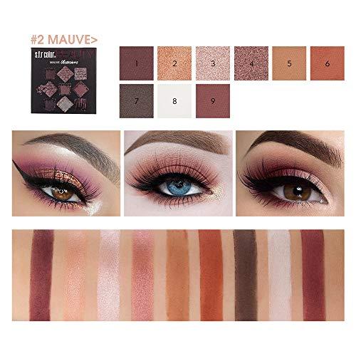 Shimmer Set 9 Couleurs Ombre à PaupièRes Mat CosméTique CrèMe Palette De Maquillage Fard à PaupièRes LEEDY