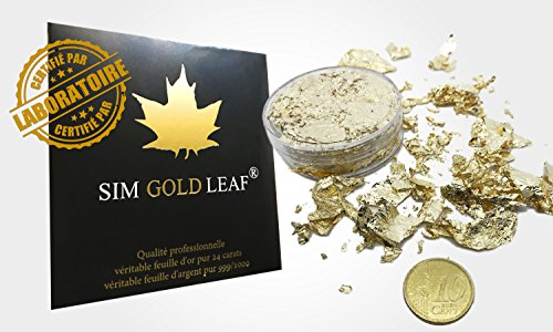 sim gold leaf Flocon de Feuilles d'or 20 cm3