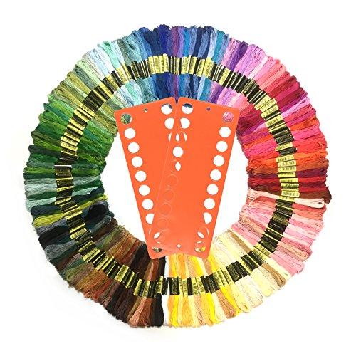 Wartoon Stickgarn, MultifarbenEmbroidery Thread Nähgarne Stickerei Set für Kreuzstich Basteln Freundschaftsbänder (150 Farben)