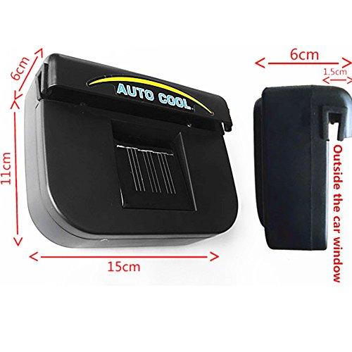 Preisvergleich Produktbild Solar angetriebenes Auto-Fenster-Windschutzscheiben-Selbstlüftungsöffnung-Kühlventilator-System-Kühlvorrichtung
