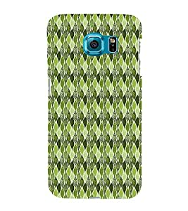 Green Leafs Autumn 3D Hard Polycarbonate Designer Back Case Cover for Samsung Galaxy S6 Edge :: Samsung Galaxy Edge G925