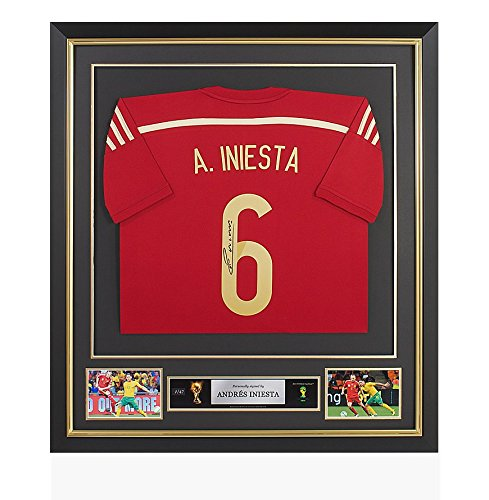 PRE-FRAMED-Andres-Iniesta-Official-2014-FIFA-World-Cup-Back-Signed-Spain-Shirt