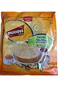 Delicious bite Pani Puri Khakra, 200g (Pack of 2)
