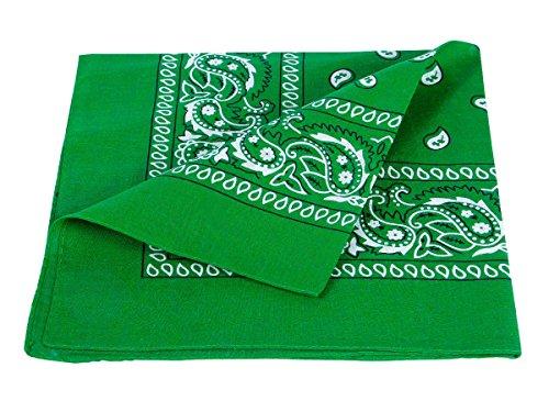 Bandana verde paisley multifunzione classica BA-59 di colori diversi foulard scialle collo rocker biker motociclista motorcycle pirata accessorio hip hop cappellino cowboy bracciale