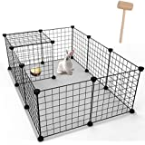 Youke Design DIY Portable clôture pour Petits Animaux, Parc de Chien, Panneaux Noirs de (12 Panneaux)