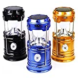 3Pack Camping Lantern Flashlights Solar Rechargeable Hiking LED Lamps, WSMY Portable Tent Lights Handheld Torch Outdoor Indoor Ultra Bright for Emergency Survival Equipment