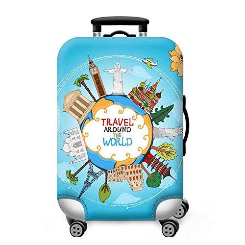 Sulida Housse de valise bagage en tissu Élastique Bagages Couverture Imprimé Valise Couverture Protecteur housse de bagage (moti2M)