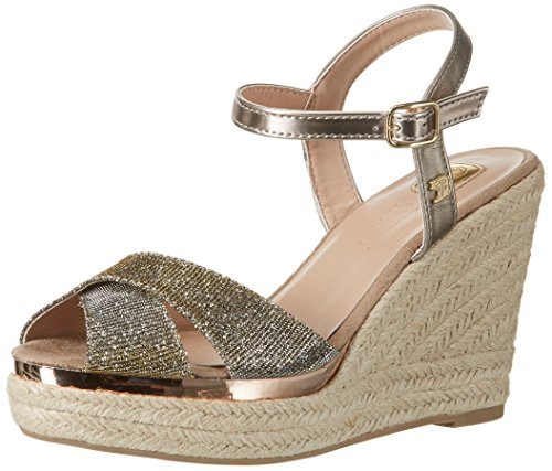 Tom Tailor Damen 2795302 Riemchensandalen, Gold (Bronze), 38 EU