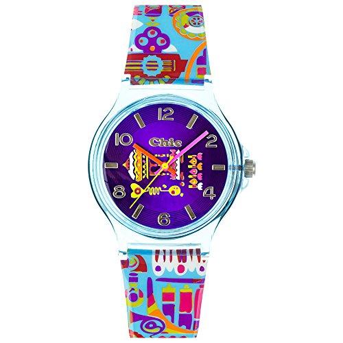 Teenie uc028Kinder-Armbanduhr, Armband aus Kunststoff Farbe blau