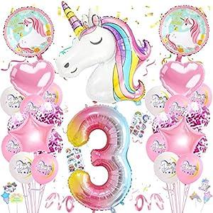 Globos Numeros Gigantes Unicornio,Cumpleaños Niñas