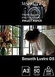 marrutt 250gsm Glatte Glanz DS Papier, A3, 50Blatt
