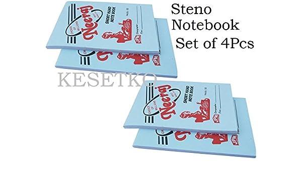 KESETKO® Steno, Short Hand, Writing Notebook Pads, (4 Pcs) 7