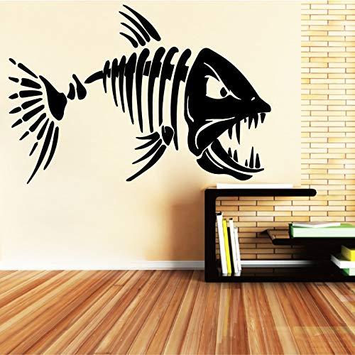 58 x 87 cm Aiyo Aiyo Große Zähne Hai Fisch Wand Aufkleber Für Wohnzimmer Kunst Wa