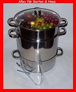 Extracteur de jus vapeur en inox Vapofruits