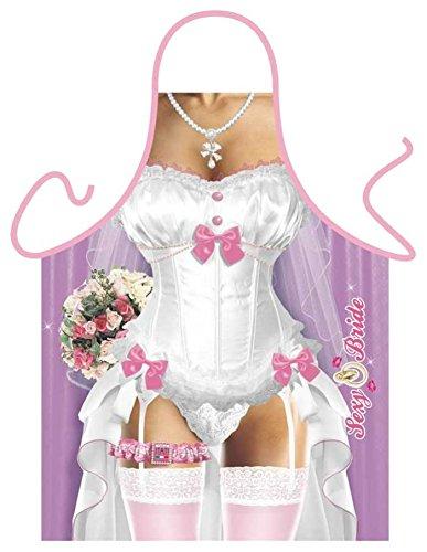Lustige Hochzeit Schürze = Sexy Braut = Küchenschürze Geschenkschürze Kochschürze Spassschürze - Das witzige Original von ITATI